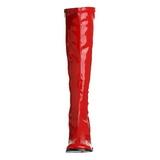 Rood Lak 8,5 cm Funtasma GOGO-300 Dames Laarzen