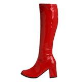 Rood Lak 8,5 cm GOGO-300 Dameslaarzen met hak voor Heren