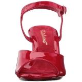 Rood Lak 8 cm BELLE-309 Hoge Hakken voor Mannen