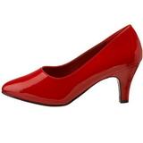 Rood Lak 8 cm DIVINE-420W Dames pumps met lage hak