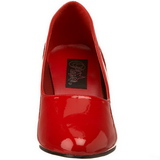 Rood Lak 8 cm DIVINE-420W Pumps Hoge Hakken voor Mannen