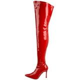Rood Lak 9,5 cm LUST-3000 Hoge Overknee Laarzen