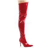 Rood Lak 9,5 cm LUST-3000 overknee laarzen met hakken
