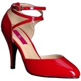 Rood Lakleer 10 cm DREAM-408 grote maten pumps schoenen
