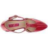 Rood Lakleer 10 cm DREAM-425 grote maten pumps schoenen