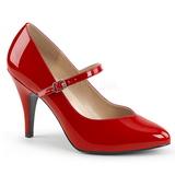 Rood Lakleer 10 cm DREAM-428 grote maten pumps schoenen