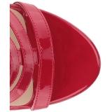 Rood Lakleer 10 cm DREAM-438 grote maten enkellaarzen dames