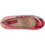 Rood Lakleer 10 cm QUEEN-02 grote maten pumps schoenen