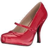 Rood Lakleer 11,5 cm PINUP-01 grote maten pumps schoenen