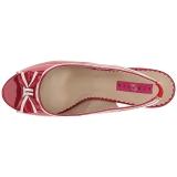 Rood Lakleer 11,5 cm PINUP-10 grote maten sandalen dames