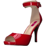Rood Lakleer 12,5 cm EVE-02 grote maten sandalen dames