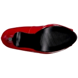 Rood Lakleer 13,5 cm CHLOE-01 grote maten pumps schoenen