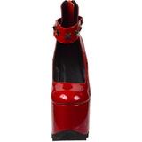 Rood Lakleer 16 cm CRAMPS-03 Gothic Pumps Schoenen