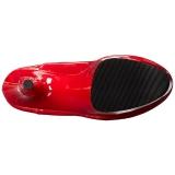 Rood Lakleer 18 cm ADORE-3063 overknee laarzen met hoge hakken