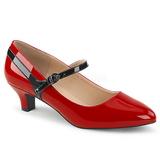 Rood Lakleer 5 cm FAB-425 grote maten pumps schoenen