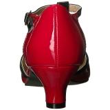 Rood Lakleer 5 cm FAB-428 grote maten pumps schoenen