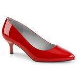Rood Lakleer 6,5 cm KITTEN-01 grote maten pumps schoenen