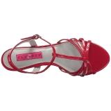 Rood Lakleer 6 cm KITTEN-06 grote maten sandalen dames