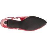 Rood Lakleer 7,5 cm DIVINE-418 grote maten pumps schoenen