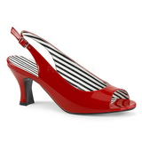 Rood Lakleer 7,5 cm JENNA-02 grote maten sandalen dames