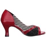 Rood Lakleer 7,5 cm JENNA-03 grote maten pumps schoenen