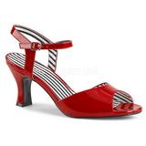 Rood Lakleer 7,5 cm JENNA-09 grote maten sandalen dames