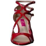 Rood Lakleer 7,5 cm KIMBERLY-04 grote maten sandalen dames