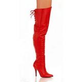Rood Leder 13 cm LEGEND-8899 Overknee Laarzen voor Heren