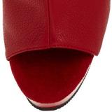 Rood Mat 16 cm DELIGHT-1018 Plateau Enkellaarzen