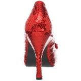 Rood Pailletten 11,5 cm OZ-06 Hoge Avond Pumps Schoenen met Hak