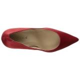 Rood Satijn 10 cm CLASSIQUE-20 Pumps Schoenen met Naaldhakken