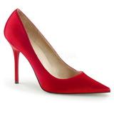 Rood Satijn 10 cm CLASSIQUE-20 grote maten stilettos schoenen