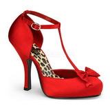 Rood Satijn 12 cm CUTIEPIE-12 Dames Pumps Schoenen Plat