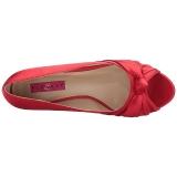 Rood Satijn 5 cm FAB-422 grote maten pumps schoenen