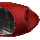 Rood Strass 13 cm LOLITA-08 Hoge Avond Pumps Schoenen met Hak