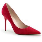 Rood Suede 10 cm CLASSIQUE-20 Pumps Schoenen met Naaldhakken