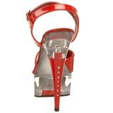 Rood Transparant 15 cm CAPTIVA-609 Plateau Hoge Hakken