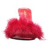 Rood Veren 10 cm CLASSIQUE-01F Hoge Mules Schoenen voor Mannen