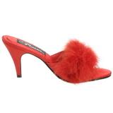 Rood Veren 8 cm AMOUR-03 Hoge Mules Schoenen voor Mannen