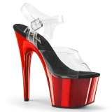 Rood chrome plateau 18 cm Pleaser ADORE-708 pole dance schoenen met hoge hakken
