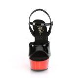 Rood chroom plateau 15 cm DELIGHT-609 pleaser hoge hakken