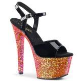 Rood glitter 18 cm Pleaser SKY-309LG paaldans schoenen met hoge hakken