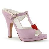 Rose 10 cm retro vintage SIREN-09 Women Mules Shoes