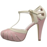 Rose 11,5 cm BETTIE-25 Pinup pumps with hidden platform