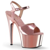 Rose 18 cm ADORE-709 Chrome Platform High Heel