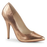 Rose Goud 13 cm SEDUCE-420 pleaser pumps met puntneus