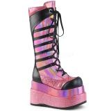 Rose Leatherette 11,5 cm DEMONIA BEAR-205 goth platform boots