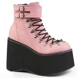 Rose Leatherette 11,5 cm KERA-21 lolita ankle boots wedge platform
