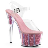 Rose glitter 18 cm Pleaser ADORE-708G Pole dancing high heels shoes