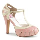 Roze 11,5 cm BETTIE-25 Pinup pumps schoenen met verborgen plateauzool